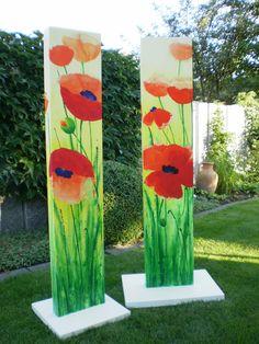 ~ ღ Skuwandi Yard Art Crafts, Garden Crafts, Garden Projects, Garden Art, Garden Junk, Wood Yard Art, Peace Pole, Garden Poles, Painted Driftwood