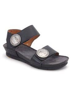 Cashott sandal lav med knap