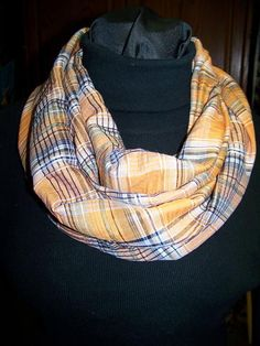 Ladies Infinity Scarf Ora... - Adorie's Designs | Scott's Marketplace #shoplocal #shopatscotts #scarf #accessories #fall