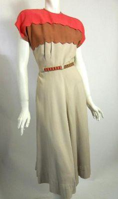 Gabardine Fabric Dress