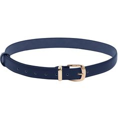 Deep Blue Metal Buckle Belt (73 ARS) ❤ liked on Polyvore featuring accessories, belts, navy, navy blue belt and navy belt