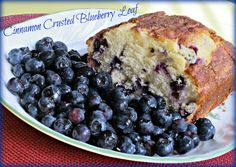 cinnamon crusted blueberry loaf