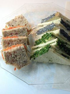 Radish/Poppy Seed Tea Sandwich - Carrot/Ginger Tea Sandwich - Cucumber ...