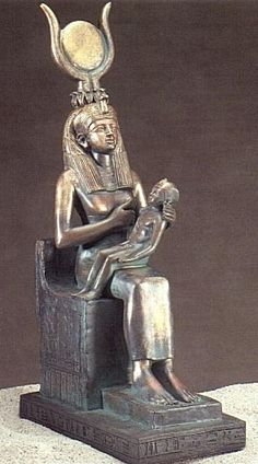 Semiramis with Tammuz (Isis/Horus). By Roman times she was the most important goddess in Egypt. The image of the goddess holding her child was used prominently. This influenced the earliest icons of Mary holding Jesus, as Christianity absorbed many of the traditions surrounding Isis and incorporated them into the veneration of Mary.