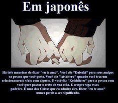 Eu te amo em japonês Otaku Meme, Japanese Words, Japanese Art, Japanese Language, Fujoshi, Anime Naruto, Manga Anime, Kawaii Anime, Texts