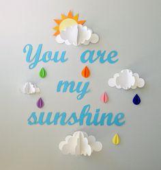 Diese Wandkunst ist perfekt für ein Kinderzimmer, des Kindes Zimmer oder Spielzimmer. Es ist eine gute Möglichkeit an jeder Wand Textur und Farbe hinzu. Diese Wandkunst ist einfach zu hängen und zu bewegen. Diese Wandkunst besteht aus sechs 3D Regenbogen farbig, Regentropfen, 4 Wolken von verschiedenen Größen (eines mit einer Sonne heraus spähen) und die Worte You are my Sunshine. * Ihre Bestellung im Lieferumfang sind selbstklebende Registerkarten, die Sie verwenden können, um Ihre…