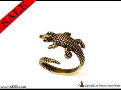 Crocodile Open ring,Alligator Ring,Adjustable Wrap Ring,Gator Ring,Cayman Ring,Croc Ring,Reptile Animal Ring,Animal Rings