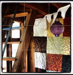 Inside our treehouse.