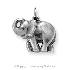 James Avery Elephant charm; want. $56.00! Stupid silver prices going up. I KNOW, 6 years ago, the s.s. from J.A. was cheaper than ordering fake Lia Sophia jewelry.