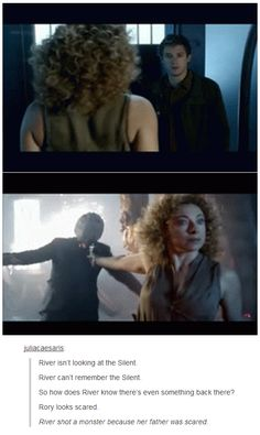 River shot a monster because her father was scared. [River Song, Doctor Who] Alex Kingston, Virginia Woolf, Tardis, The Maxx, Out Of Touch, Fandoms, Don't Blink, Torchwood, Film Serie