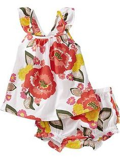 Floral Tank & Bloomer Sets for Baby