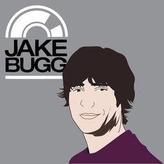 Jake Bugg, cantor e compositor, vetorizado.