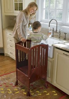 Kids Kitchen Helper Safety Tower Step Stool - White