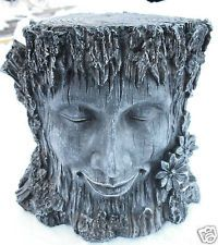 Resin Tree Faces | Tree pedestal Latex w plastic backup plaster mold concrete mold
