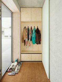 Trendy Hallway Storage Cupboard Entrance Ideas - Image 7 of 23 Cupboard Storage, House Interior, Hallway Storage, Home, Storage, Concrete House, Entrance, Interior Furniture, Glass Room