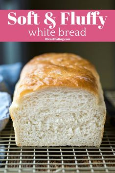 Healthy Bread Recipes, Yeast Bread Recipes, Fun Easy Recipes, Baking Recipes, Easy White Bread Recipe, Homemade White Bread, Multigrain Bread Recipe, Amish White Bread, Yeast Free Breads