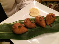 www.eventsbybh.com #Brazilian #Coxinha - Pulled chicken with herbs rolled into a garlic dough and deep fried. Uma delícia! #Holiday #Party - Info@EventsByBH.com
