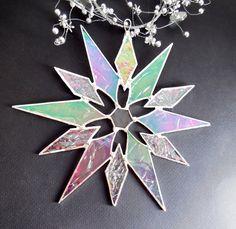 Rainbow Iridescent Glass Star