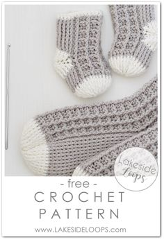 Most up-to-date Totally Free Crochet baby socks Concepts Watson Waffle Crochet Socks – FREE Pattern – Lakeside Loops Easy Crochet Socks, Crochet Sock Pattern Free, Baby Booties Free Pattern, Crochet Baby Booties, Crochet Slippers, Crochet Patterns, Free Crochet, Crochet Hats, Crochet Patron