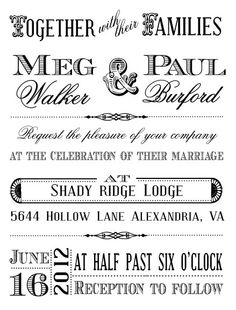 """Old West"" Wedding Invitation Rubber Stamp - Antiquaria"