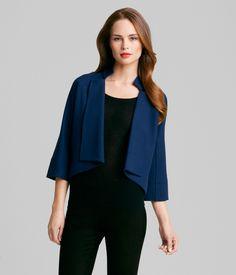 TRISH JACKET    Impress everyone with this mod, draped lapel Trish Jacket, featuring dramatic crisp collar.