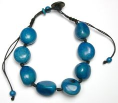 Tagua Whole Eco Friendly Necklace - Blue   http://www.enloops.com/Tagua-Whole-Eco-Friendly-Necklace/dp/B009I9GMZG