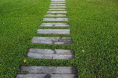 Try these DIY garden paths and backyard walkway ideas you can do this weekend! We all love a garden path, whether winding or straight! Backyard Walkway, Backyard Garden Landscape, Diy Garden, Wooden Garden, Garden Paths, Backyard Landscaping, Backyard Designs, Landscaping Ideas, Garden Ideas