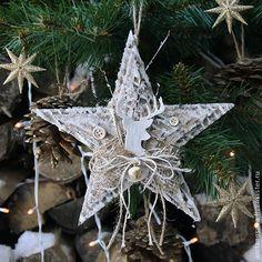 Рождественская звезда своими руками - Ярмарка Мастеров - ручная работа, handmade