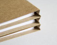 Sistema de cuaderno de papel Kraft de 3, escritura Bloc de notas, cuaderno de kraft, lista, cuaderno de bolsillo, cuaderno de viaje, en blanco jotter libro página memo