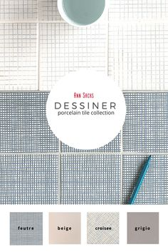 Dessiner 4x4 porcelain tile collection. Classic hand-painted look with durability of porcelain.