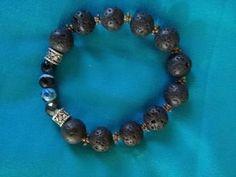 Black lava stone bracelet Old Stone, Stone Bracelet, Stone Beads, Lava, Natural Gemstones, Essentials, Things To Come, Beaded Bracelets, Jewellery