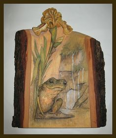 Nature expressed in a block of wood -Relief Wood Carving