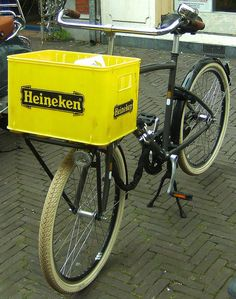 got pretty good at balancing a full crate of bottle beer straight from the factory in Holland... :)