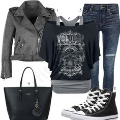 Casual-Style mit grüner Lederjacke und Converse High-Tops #lederjacke #jeans #converse #handtasche #outfit #style #fashion #womensfashion #womensstyle #womenswear #clothing #frauenmode #damenmode #handtasche #inspiration #frauenoutfit #damenoutfit
