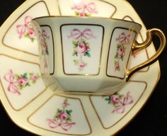 So charming...Minton Rose & Ribbons Tea cup and saucer...