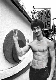 Bruce Lee at his home