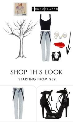 """I Know Places"" by manugata ❤ liked on Polyvore featuring River Island, Schutz, Urban Decay and Allurez"
