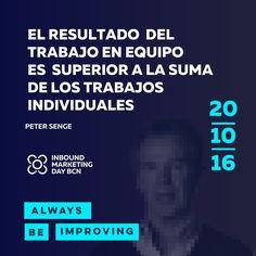 ¡El 20 de Octubre nos vemos en el Inbound Marketing Day BCN! Estaremos como empresa patrocinadora #AlwaysBeImproving #InboundMarketing #Barcelona #EventoMarketing   #IMDBCN2016
