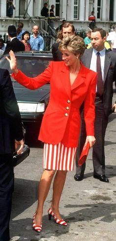 Princess Diana in Stripes, 1991