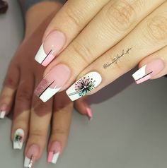 Rose Nails, Pink Nails, My Nails, Really Cute Nails, Pretty Nails, Glamour Nails, Luxury Nails, Cute Acrylic Nails, Rhinestone Nails