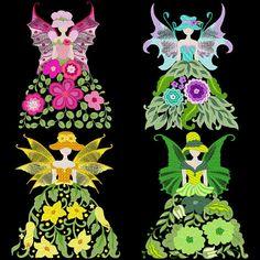 FLOWER FAIRIES  30 Machine Embroidery Design by AzEmbroideryBarn, $12.95