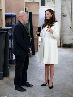 Kate previously wore the purse-friendly coat from high street maternity brandJoJo Maman B... #katemiddleton