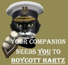 Twitter / @BoyCott_Hartz: Your companion needs you to boycott Hartz.
