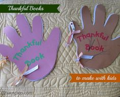 Easy Thankful Books to Make With Your Kids |my scraps