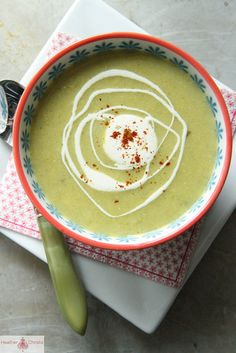 Spicy Corn and Green Chili Soup by Heather Christo, via Flickr