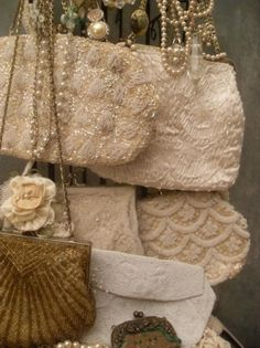 Old beaded bags