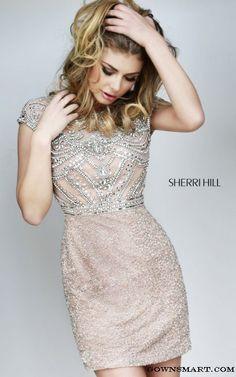 Amazing Nude Sherri Hill 11164Short Prom Dress