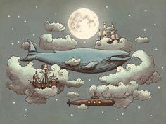 Ocean Meets Sky Art Print-terry fan