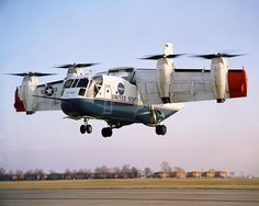 The LTV XC-142 - First flown in 1964 as a testbed for short takeoff vehicles.