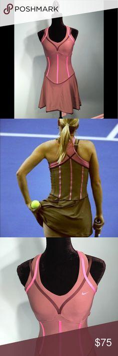 9446062b7bc78e Nike Dri-Fit Pink and Brown Tennis Dress Size S Nike Dri-Fit Pink